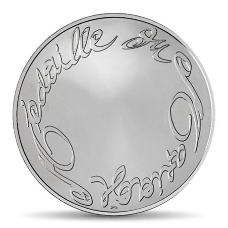 (FMED.Méd.MdP.Ag.100112713000B0) Médaille argent - Mariage, par Christian Lacroix Revers