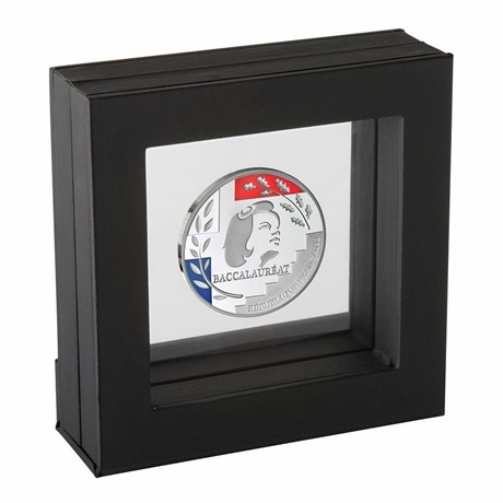 (FMED.Méd.MdP.Ag.100112734000B0) Médaille argent - Baccalauréat (présentoir) Recto