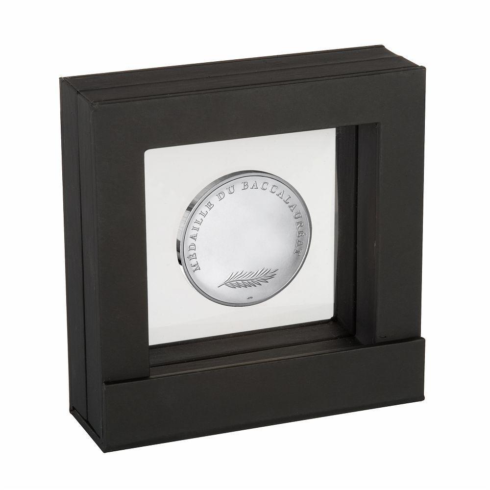(FMED.Méd.MdP.Ag.100112734000B0) Silver medal - Bachelor medal (display) Back (zoom)