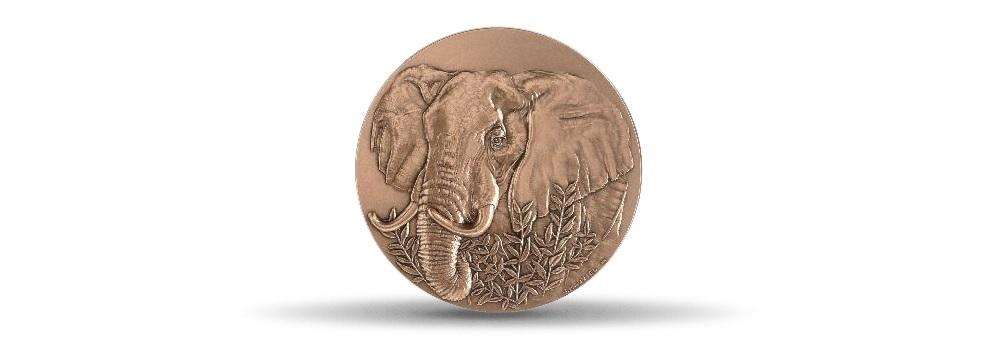 (FMED.Méd.MdP.CuSn.100100875700P0) Bronze medal - Elephant Obverse (zoom)