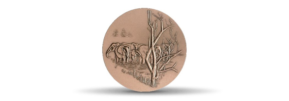 (FMED.Méd.MdP.CuSn.100100875700P0) Bronze medal - Elephant Reverse (zoom)