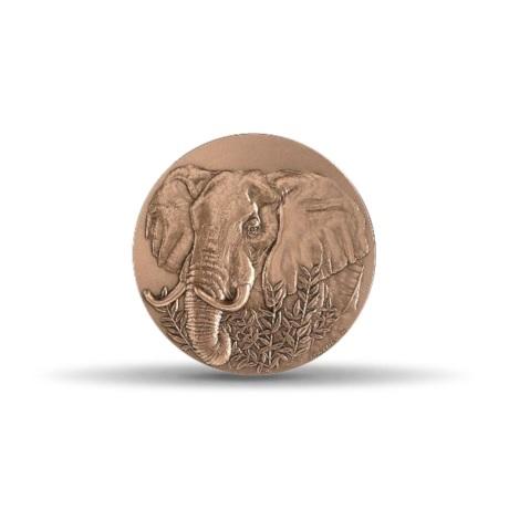 (FMED.Méd.MdP.CuSn.100100875700P0) Médaille bronze - Eléphant Avers