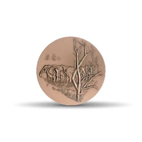 (FMED.Méd.MdP.CuSn.100100875700P0) Médaille bronze - Eléphant Revers