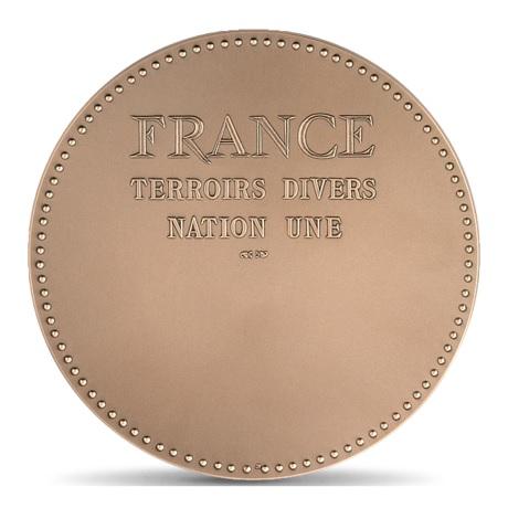 (FMED.Méd.MdP.CuSn.100100887000P0) Médaille bronze - France aux armes des provinces Revers