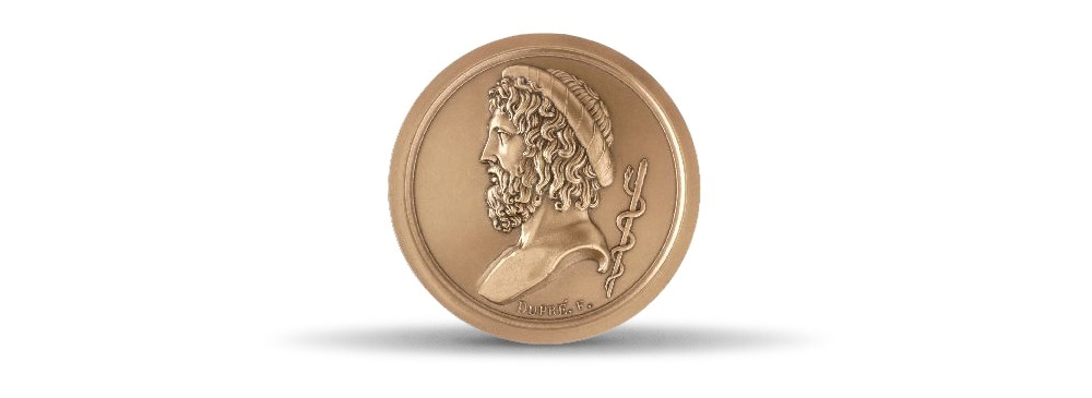 (FMED.Méd.MdP.CuSn.100110468800P0) Bronze medal - Aesculapius Obverse (zoom)