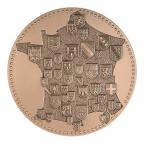 Médaille bronze - France aux armes des provinces Avers