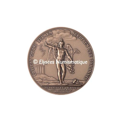 Médaille bronze - Franklin - revers