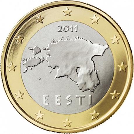 1 euro Estonie 2011
