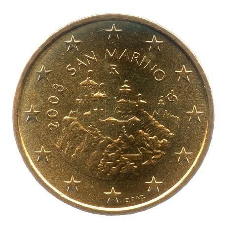 (EUR18.050.2008.0.spl.000000001) 50 cent Saint-Marin 2008 - Forteresse de Saint-Marin Avers