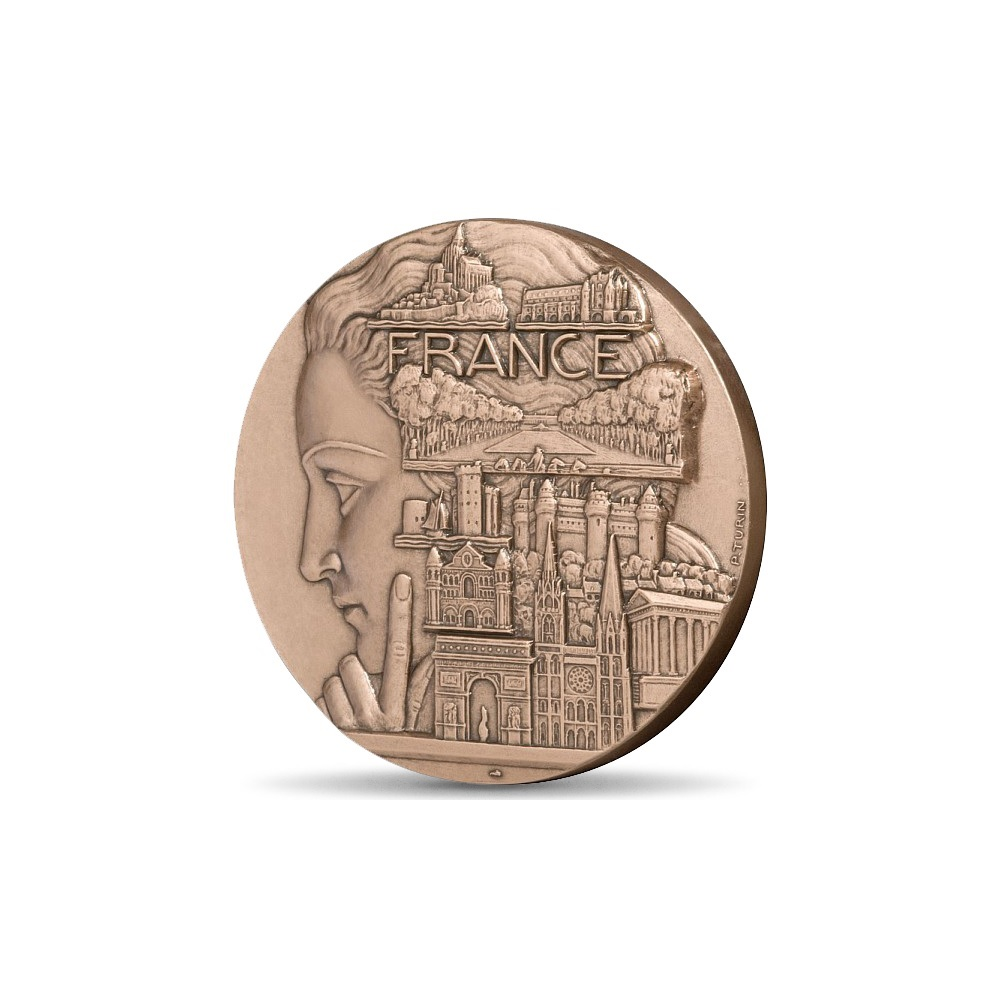 (FMED.Méd.MdP.CuSn.100100334800P0) Bronze medal - Tourist France, by Pierre Turin Obverse (zoom)