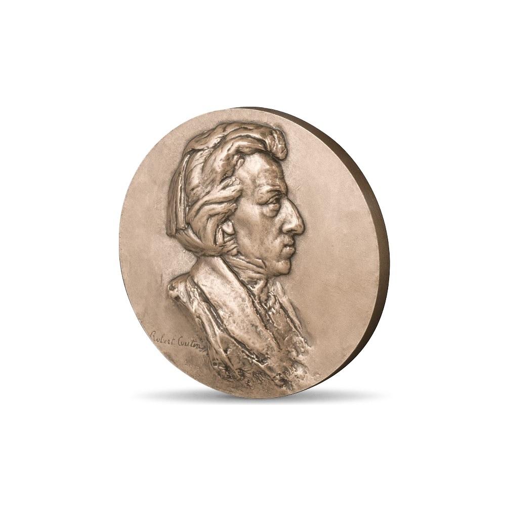 (FMED.Méd.MdP.CuSn.100100355700P0) Bronze medal - Chopin Obverse (zoom)