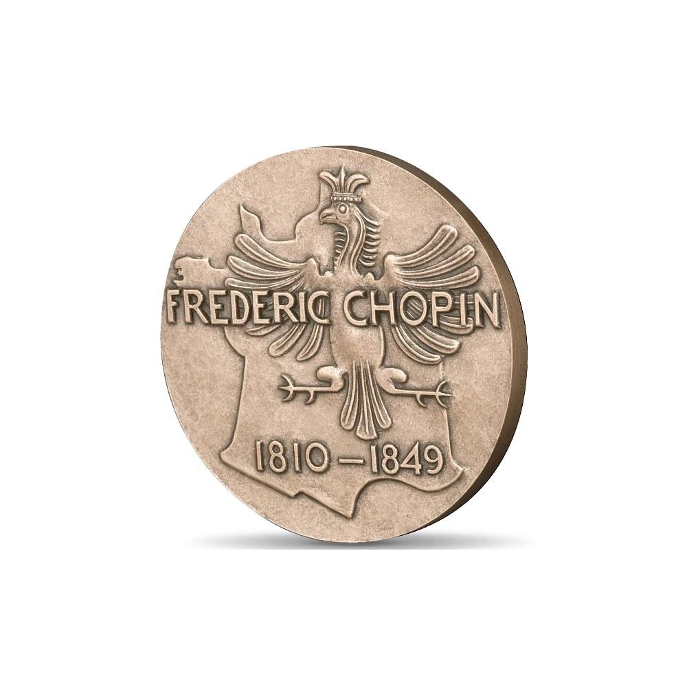 (FMED.Méd.MdP.CuSn.100100355700P0) Bronze medal - Chopin Reverse (zoom)