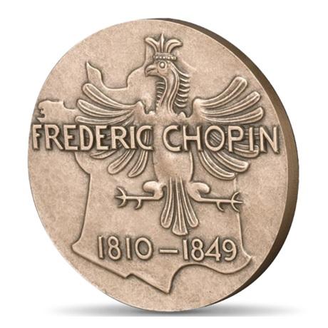 (FMED.Méd.MdP.CuSn.100100355700P0) Médaille bronze - Frédéric Chopin Revers