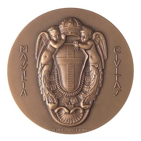 (FMED.Méd.MdP.CuSn.100100372100P0) Médaille bronze - Fondation de Marseille Revers