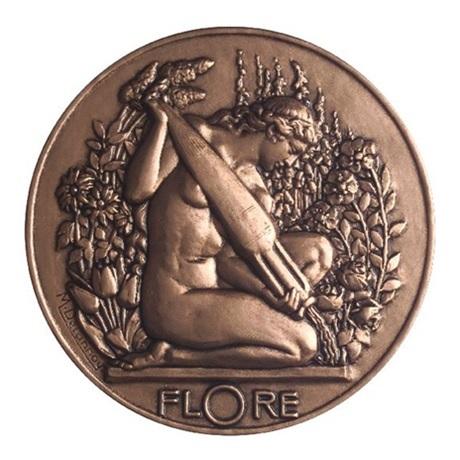 (FMED.Méd.MdP.CuSn.100100392600P0) Médaille bronze - Flore Avers