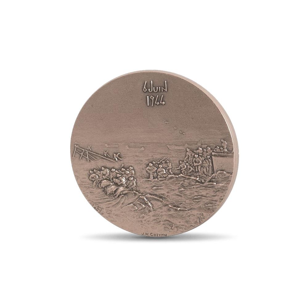 (FMED.Méd.MdP.CuSn.100100606100P0) Bronze medal - Allied landing in Normandy Reverse (zoom)