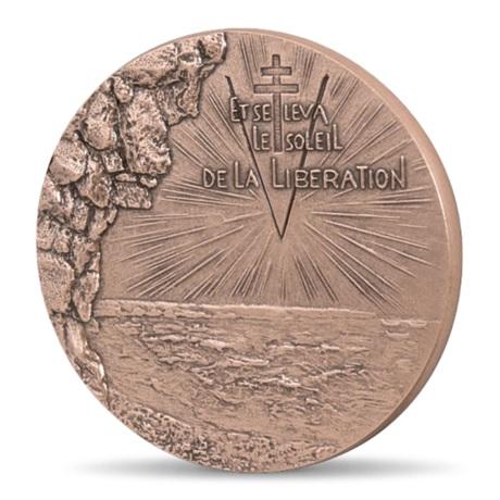 (FMED.Méd.MdP.CuSn.100100606100P0) Médaille bronze - Débarquement allié en Normandie Avers