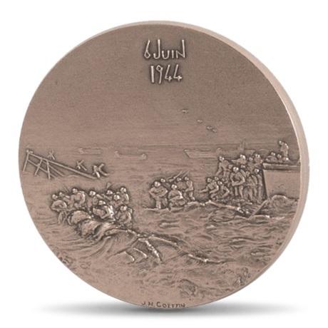 (FMED.Méd.MdP.CuSn.100100606100P0) Médaille bronze - Débarquement allié en Normandie Revers
