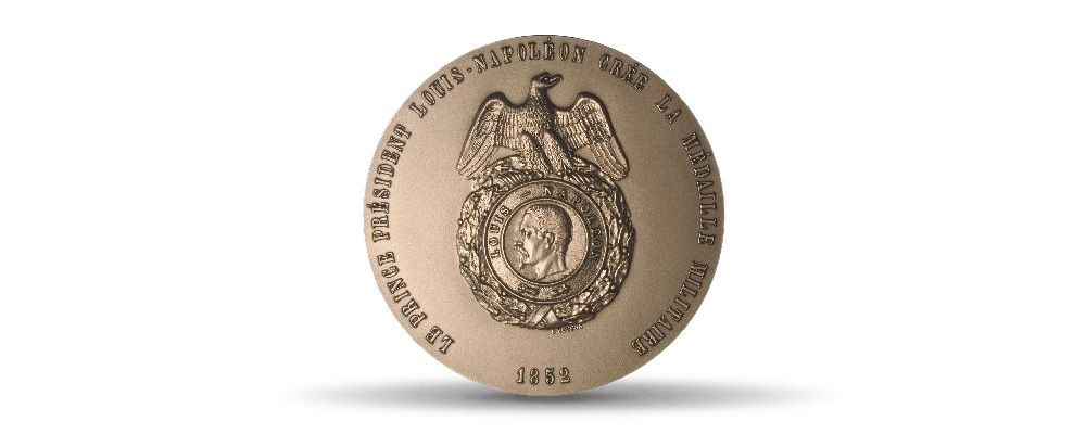 (FMED.Méd.MdP.CuSn.100100703800P0) Bronze medal - Creation of Military Medal Obverse (zoom)