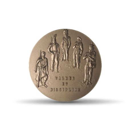 (FMED.Méd.MdP.CuSn.100100703800P0) Médaille bronze - Création de la médaille militaire Revers