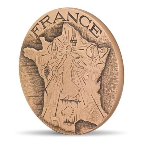 (FMED.Méd.MdP.CuSn.100100756200P0) Médaille bronze - France à la Semeuse Avers
