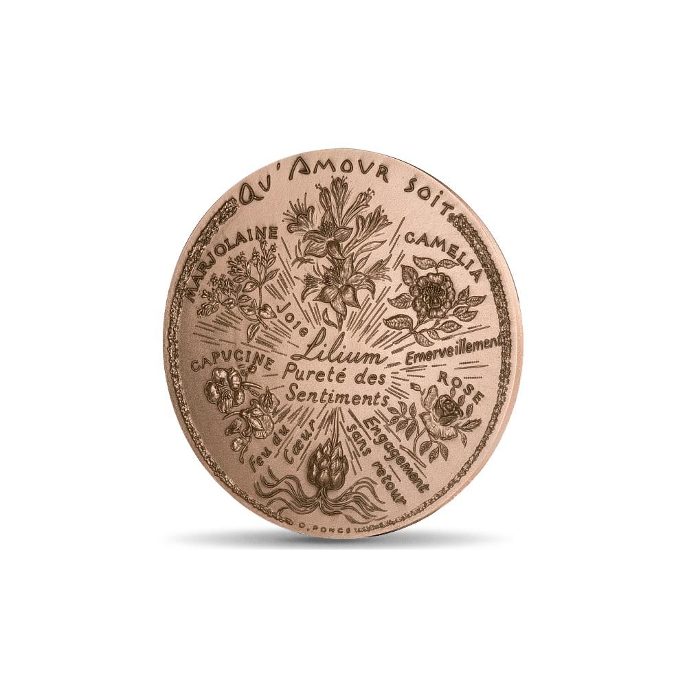 (FMED.Méd.MdP.CuSn.100110040600P0) Bronze medal - Flowers of love Obverse (zoom)