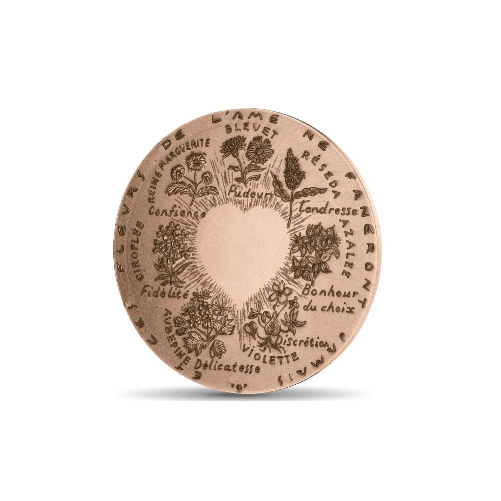 (FMED.Méd.MdP.CuSn.100110040600P0) Bronze medal - Flowers of love Reverse (zoom)