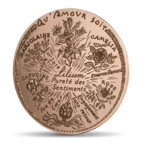 (FMED.Méd.MdP.CuSn.100110040600P0) Médaille bronze - Fleurs d'amour Avers