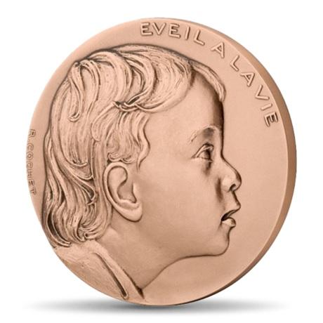 (FMED.Méd.MdP.CuSn.100110363200P0) Médaille bronze - Eveil à la vie Avers