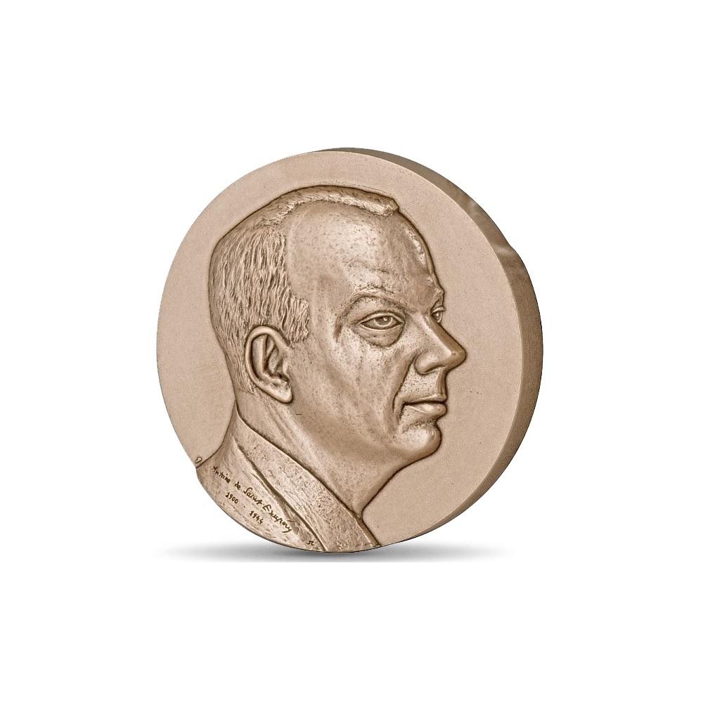 (FMED.Méd.MdP.CuSn.100111147600P0) Bronze medal - Antoine de Saint-Exupéry Obverse (zoom)