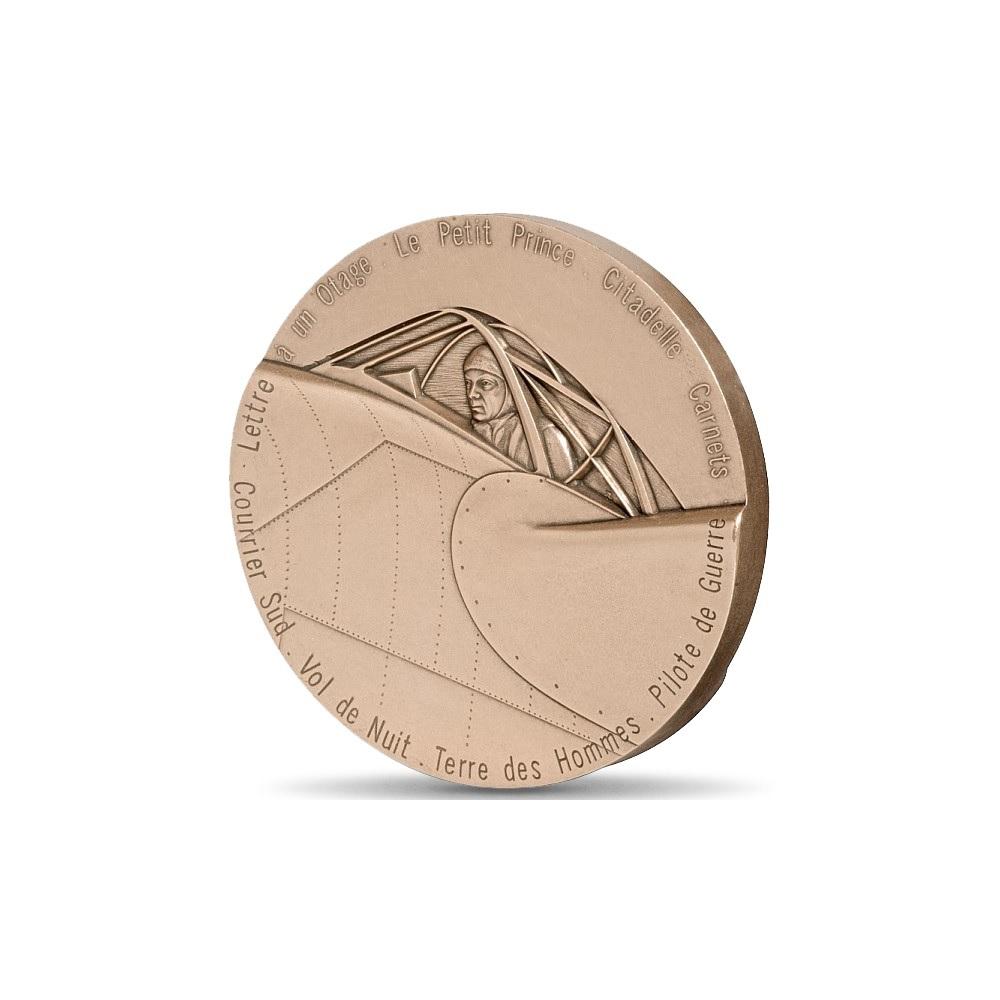 (FMED.Méd.MdP.CuSn.100111147600P0) Bronze medal - Antoine de Saint-Exupéry Reverse (zoom)
