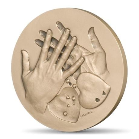 (FMED.Méd.MdP.CuSn.100111215400P0) Médaille bronze - Echange Avers