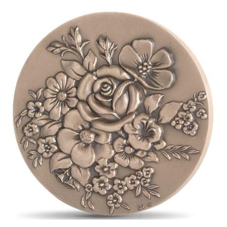 (FMED.Méd.MdP.CuSn.100111222900P0) Médaille bronze - Fleurs de joie Avers