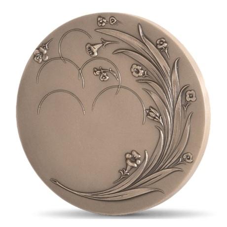 (FMED.Méd.MdP.CuSn.100111222900P0) Médaille bronze - Fleurs de joie Revers