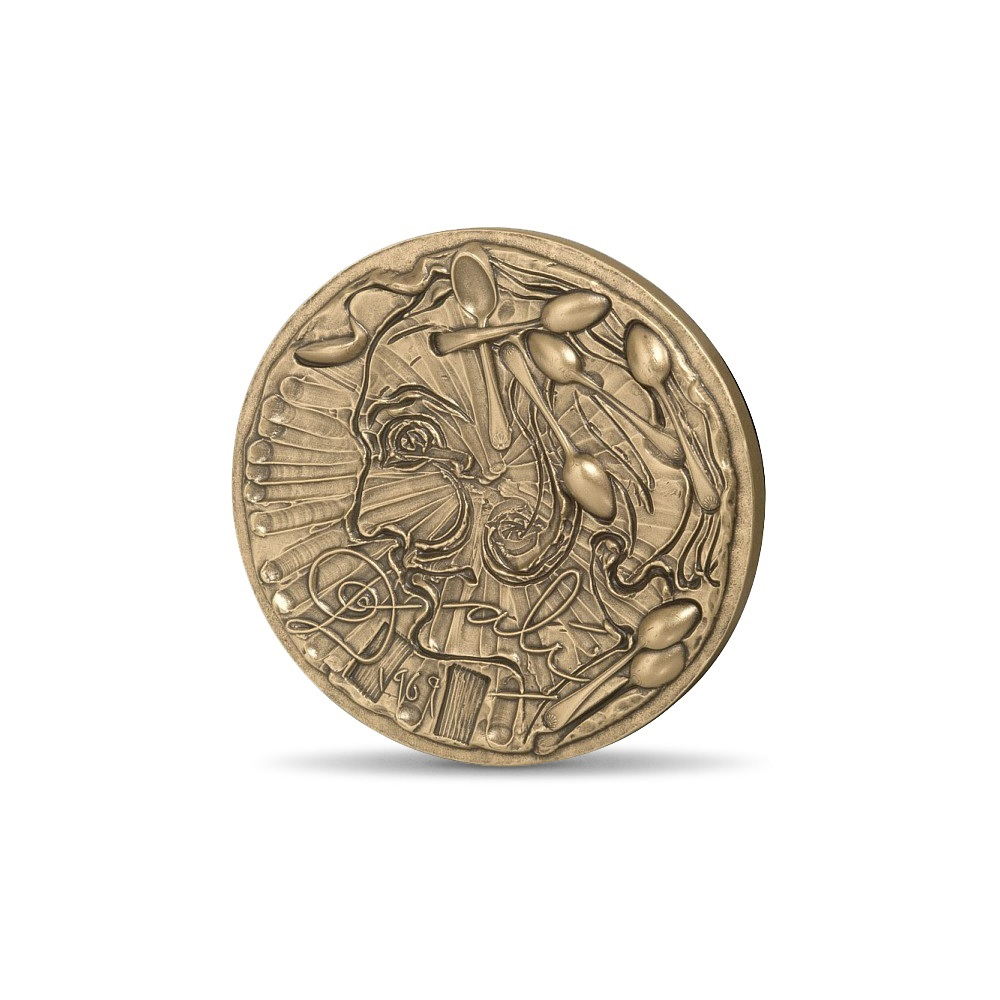 (FMED.Méd.MdP.CuSn.100112278200P0) Bronze medal - Dali by himself Obverse (zoom)
