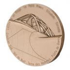 Médaille bronze - Antoine de Saint-Exupéry, par Letourneur Revers
