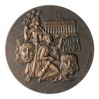 Médaille bronze - Bordeaux ville d'art Revers