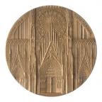 Médaille bronze - Cathédrale de Strasbourg Avers