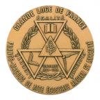 Médaille bronze - Centenaire de la Grande Loge de France Avers