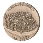 Médaille bronze - La Cité de Carcassonne Avers