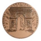 Médaille bronze - La France à l'Arc de Triomphe Avers