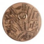 Médaille bronze - La France à l'Arc de Triomphe Revers