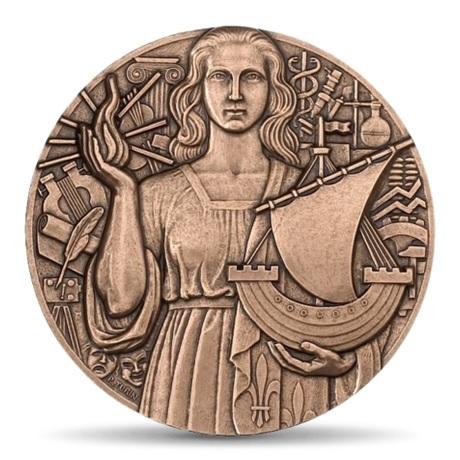 (FMED.Méd.MdP.CuSn.100100000600P0) Médaille bronze - Paris, par Turin Avers