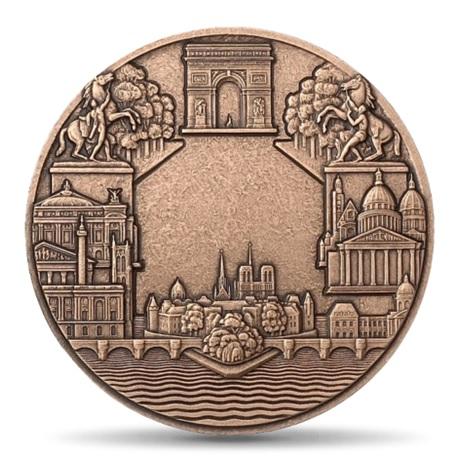 (FMED.Méd.MdP.CuSn.100100000600P0) Médaille bronze - Paris, par Turin Revers