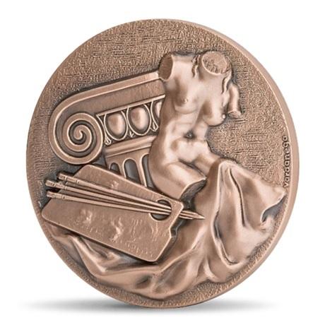 (FMED.Méd.MdP.CuSn.100110558100P0) Médaille bronze - Les arts, par Gregorio Vardanega Avers