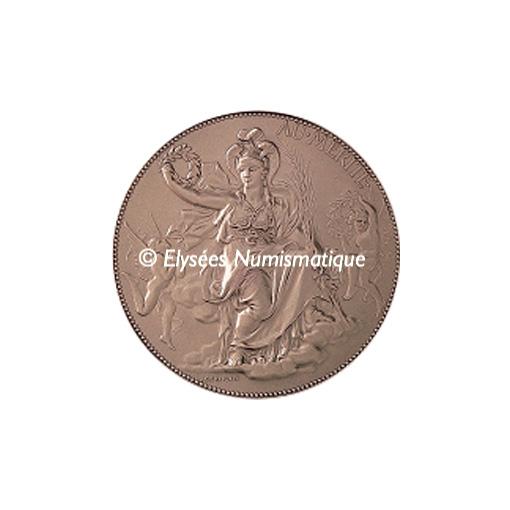 Médaille bronze - Minerve, par Jules-Clément Chaplain - avers