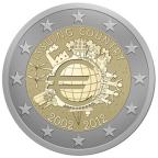 2 euro commémorative 2012 - 10 ans de l'euro fiduciaire (série des 21 monnaies)