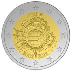 2 euro commémorative Belgique 2012 - 10 ans de l'euro fiduciaire