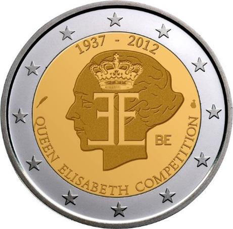 2 euro commémorative Belgique 2012 - Concours de la Reine Elisabeth