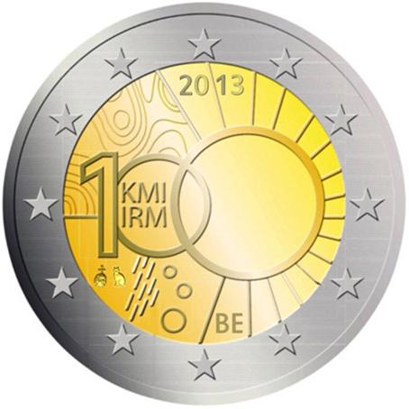 2 euro commémorative Belgique 2013 - Institut royal météorologique